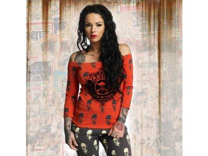 Yakuza SICK N FUCK OFF dámske tričko s dlhým rukávom GLSB 11136 cherry tomato
