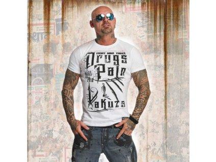 Yakuza tričko pánske DRUGS TSB 11042 white