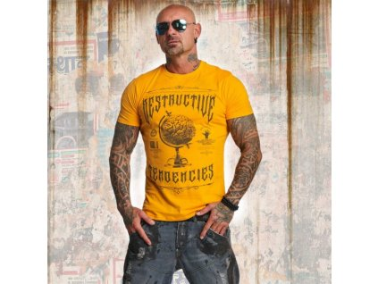 Yakuza tričko pánske DESTRUCTIVE TENDENCIES TSB 11043 bright marigold