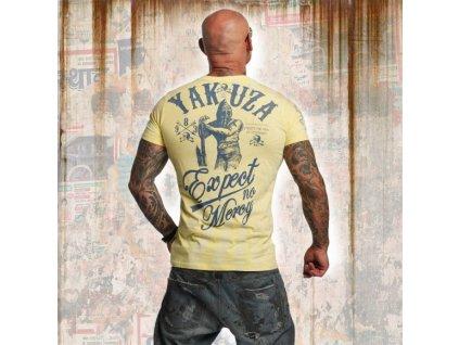 Yakuza tričko pánske EXPECT NO MERCI TSB 11031 pale banana