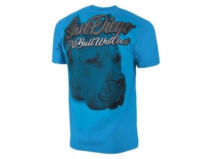 PitBull West Coast SAN DIEGO DOG 18 tričko pánske Azur Blue