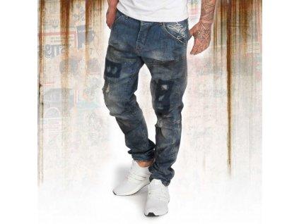 Yakuza jeansy pánske 893 STRAIGHT JEANS JEB 12070 medium distresse