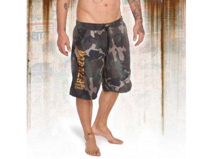 Yakuza plavkové šortky ROOKIE BOARD SHORT BSB 12053 camouflage