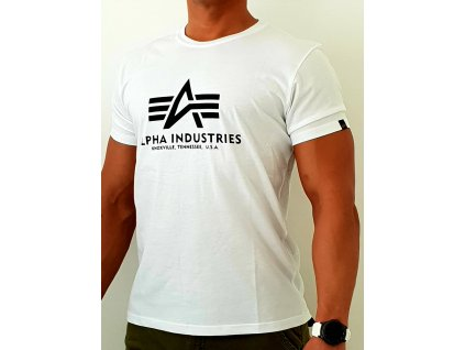 Alpha Industries Basic T-Shirt White tričko pánske
