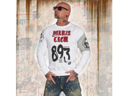 Yakuza 893 CREW mikina PB 12034 white