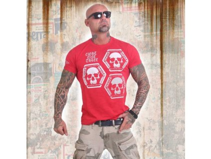 Yakuza tričko pánske SKULL COLLECTION TSB 12022 ribbon red