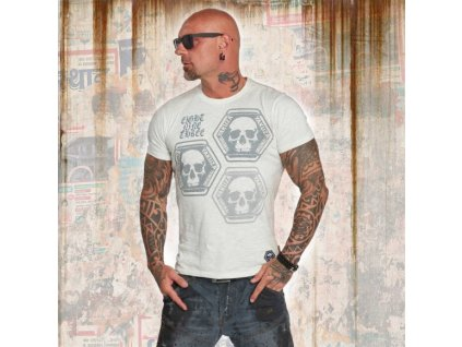 Yakuza tričko pánske SKULL COLLECTION TSB 12022 spa blue