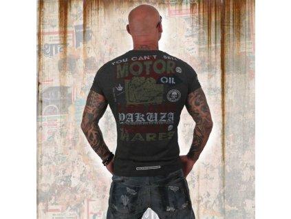 Yakuza tričko pánske NIGHTMARES TSB 12008 dark grey melange