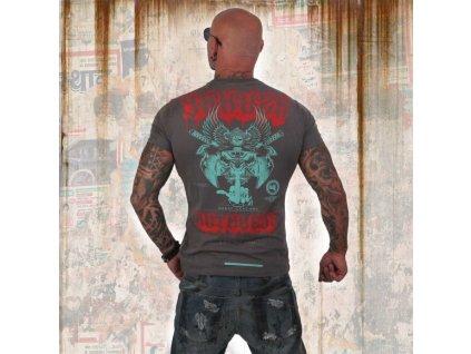 Yakuza tričko pánske RUTHLESS TSB 12019 dark grey melange