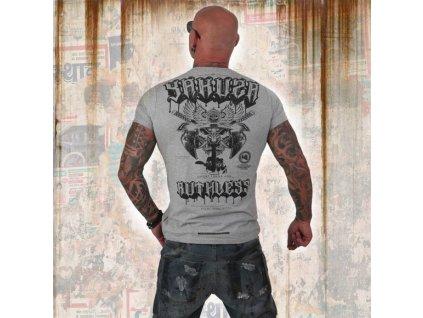 Yakuza tričko pánske RUTHLESS TSB 12019 light grey melange