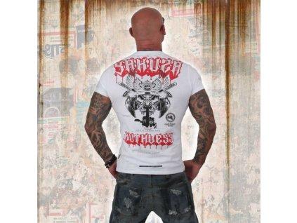 Yakuza tričko pánske RUTHLESS TSB 12019 white