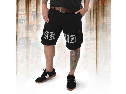Yakuza cargo šortky SKULL LABEL CSB 12045 black moon