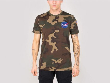 Alpha Industries Space Shuttle T woodl camo 65 tričko pánske
