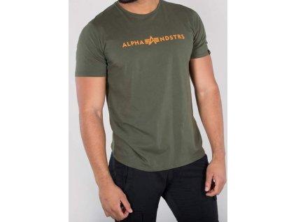 Alpha Industries Alphandstr's T dark olive tričko pánske