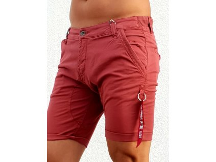 alpha industries kerosene short panske sortky burgundy