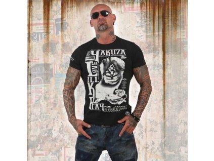 Yakuza tričko pánske LOVE KILL PRAY TSB 12003 black