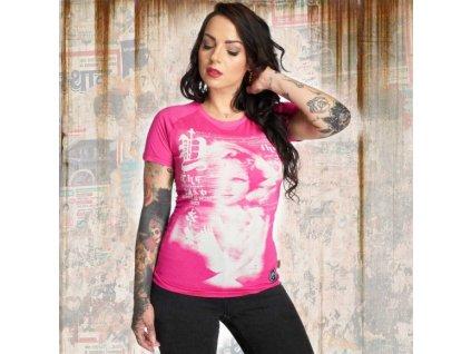 Yakuza SCARE ME dámske tričko GSB 12111 fuchsia rose
