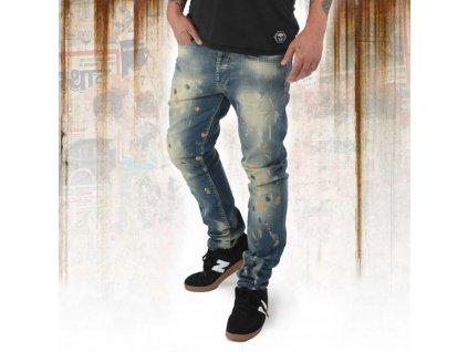 Yakuza jeansy pánske 893 STRAIGHT JEANS JEB 12078 bronzee distressed