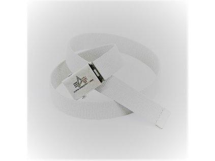 Alpha Industries Heavy Duty Belt 4 cm White opasok