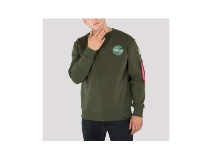 Alpha Industries mikina Space Shuttle Sweater dark green