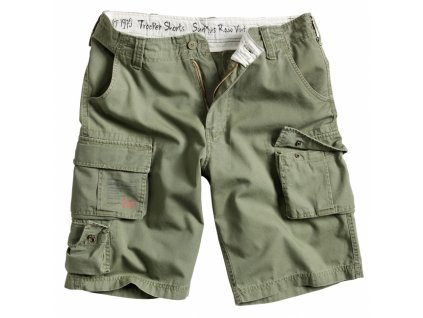 Surplus TROOPER SHORTS olive washed pánske šortky