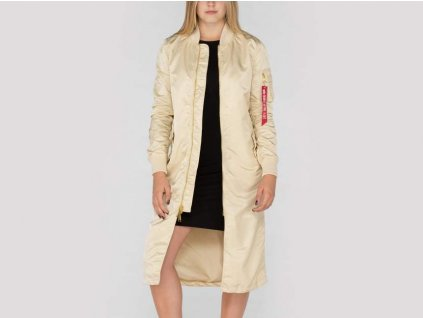 Alpha Industries dámska bunda MA-1 Coat LW PM Long Wmn Caramel