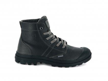 Palladium módne topánky PALLABROUSSE LEATHER CLOUDBURST/BLACK