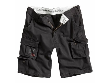 Surplus TROOPER SHORTS black washed pánske šortky