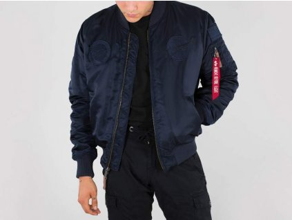 Alpha Industries MA-1 VF NASA bunda all rep blue