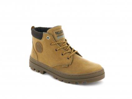 Palladium módne topánky PALLABOSSE LO CUFF WATERPROOF AMBER GOLD/CHOCOLATE BROWN/MID GUM
