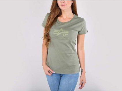 Alpha Industries Logo T Wmn tričko dámske olive
