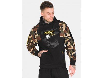 Amstaf mikina s kapucňou HUSAR camouflage