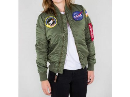Alpha Industries dámska bunda MA-1 VF Nasa Wmn sage green