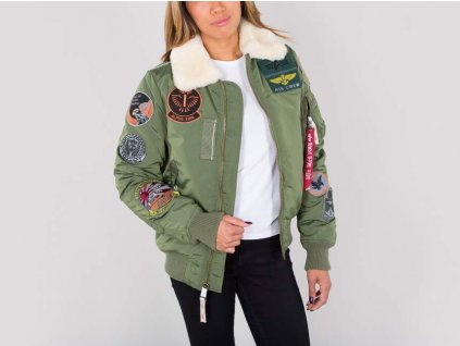 Alpha Industries Injectovyrp11 7475Alpha Industries Injector lll Patch Wmn damska zimna bunda sage green