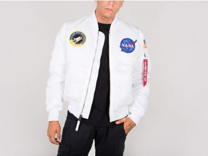Alpha Industries MA-1 VF NASA bunda white
