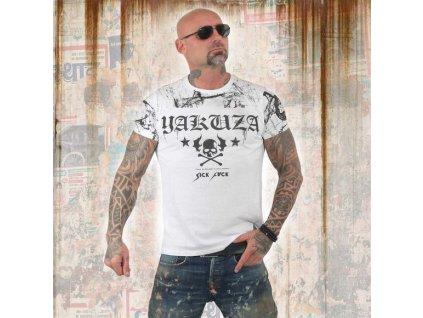 Yakuza tričko pánske MARBLE TSB 13034 white