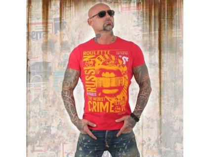 Yakuza tričko pánskeRUSSIAN ROULETTETSB 13039 ribbon red