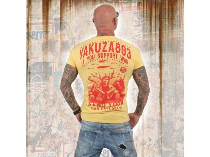 Yakuza tričko pánske SUPPORT?TSB 13042 banana cream
