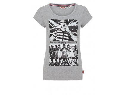 Lonsdale BRIGHTLING PARK Marl Grey dámske tričko