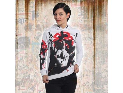 Yakuza JAPANESE FLEX HOODIE dámska mikina GHOB 13102 white