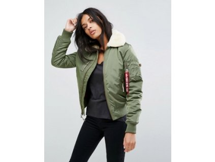Alpha Industries Injector lll  Wmn dámska zimná bunda sage green