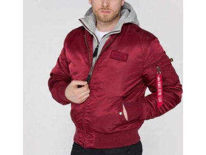 Alpha Industries zimná bunda MA-1 D-Tec burgundy