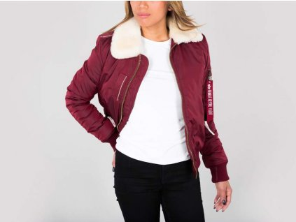 Alpha Industries Injector lll Wmn dámska zimná bunda burgundy