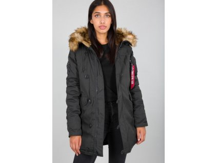 Alpha Industries Explorer Wmn dámska zimná bunda rep grey f