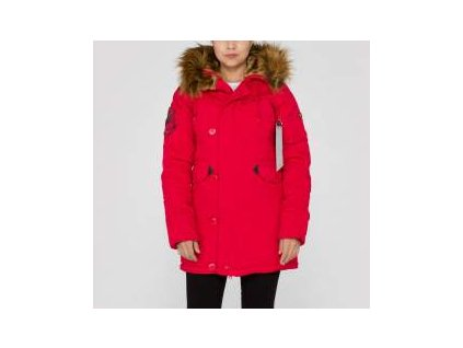 Alpha Industries Explorer Wmn dámska zimná bunda speed red