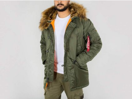 Alpha Industries zimná bunda N3B VF 59 dark green