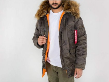 Alpha Industries zimná bunda N3B VF 59 dark olive camo