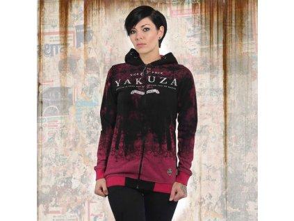 Yakuza GRADIENT FLEX dámska mikina na zips GHZB 13113 fuchsia rose