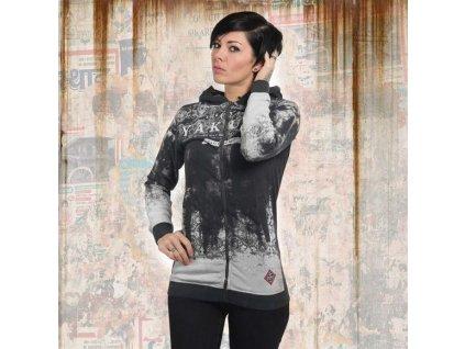 Yakuza GRADIENT FLEX dámska mikina na zips GHZB 13113 white