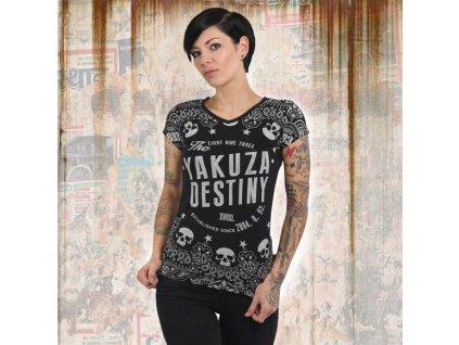 Yakuza TIJUANA V NECK dámske tričko GSB 13123 black